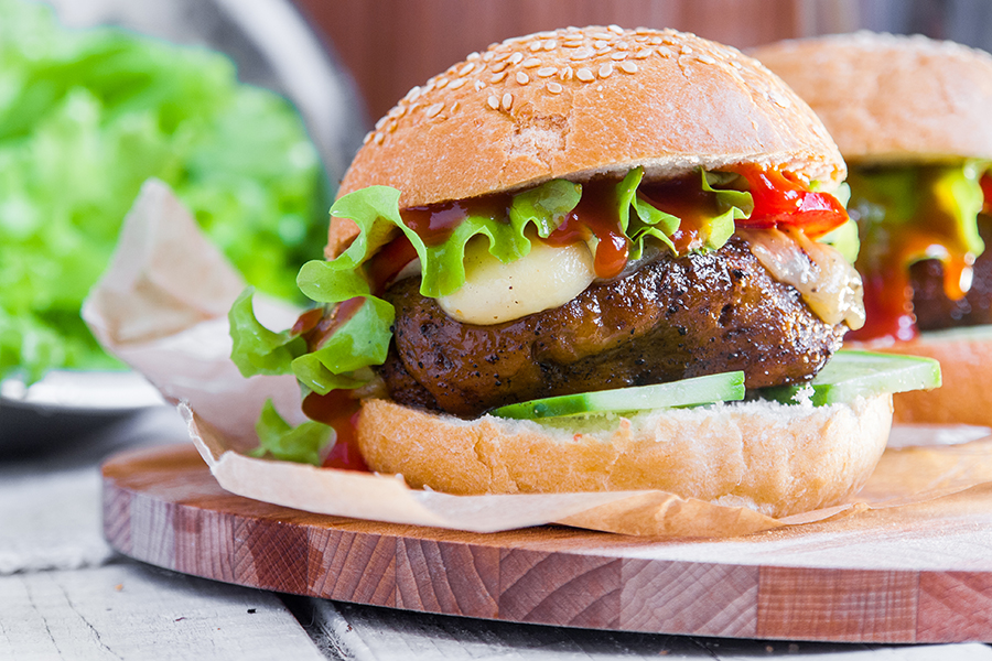 Vegan meat – Organic Boosting – seitan burger