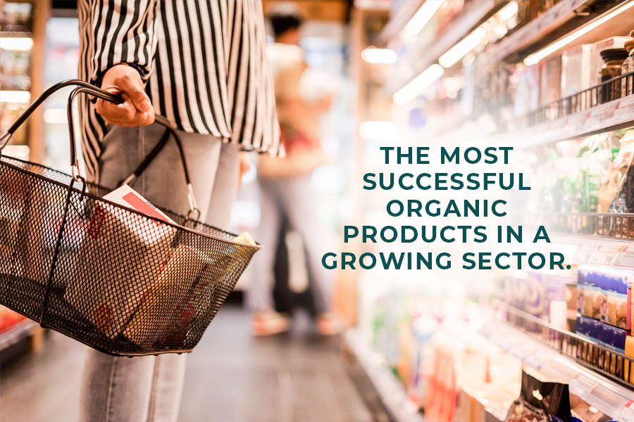 The most successful organic products in a growing sector